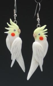 Lutino_Cockatiel__Earrings